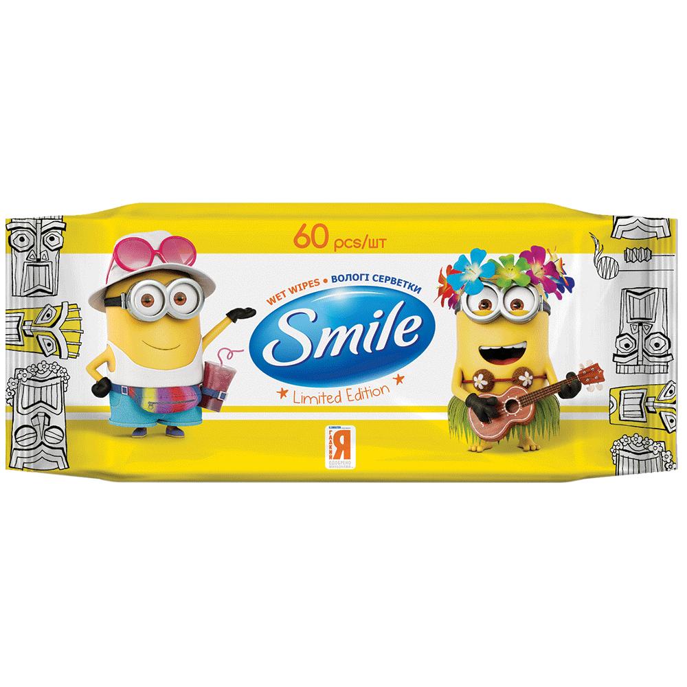 Smile Minions Влажные салфетки с витаминами, 60 шт.- Фото 5 - Biosphere