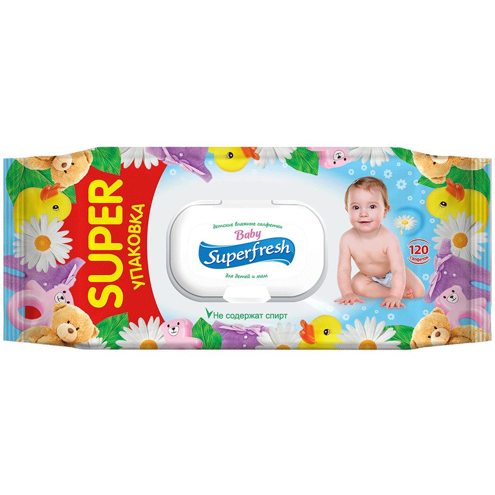 Superfresh Baby wet wipes, 120 pcs.- Фото 1 - Biosphere