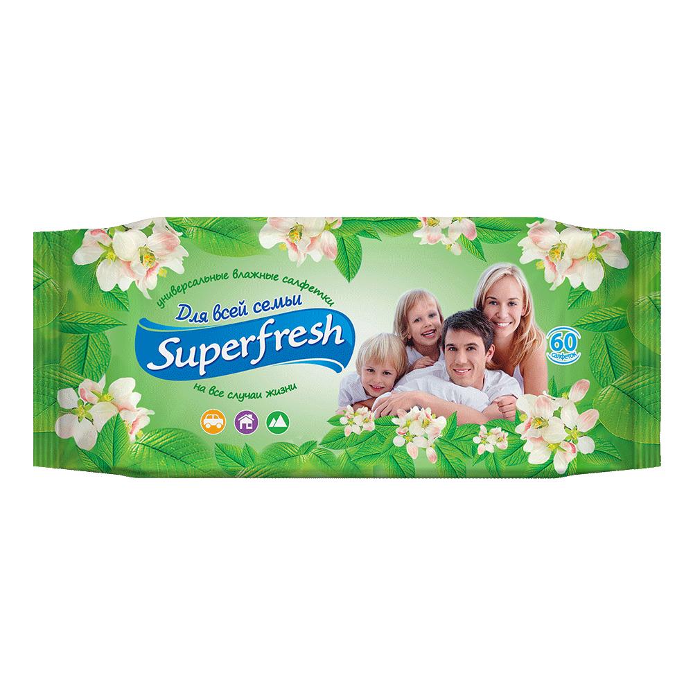 Superfresh Family wet wipes, 60 pcs.- Фото 3 - Biosphere