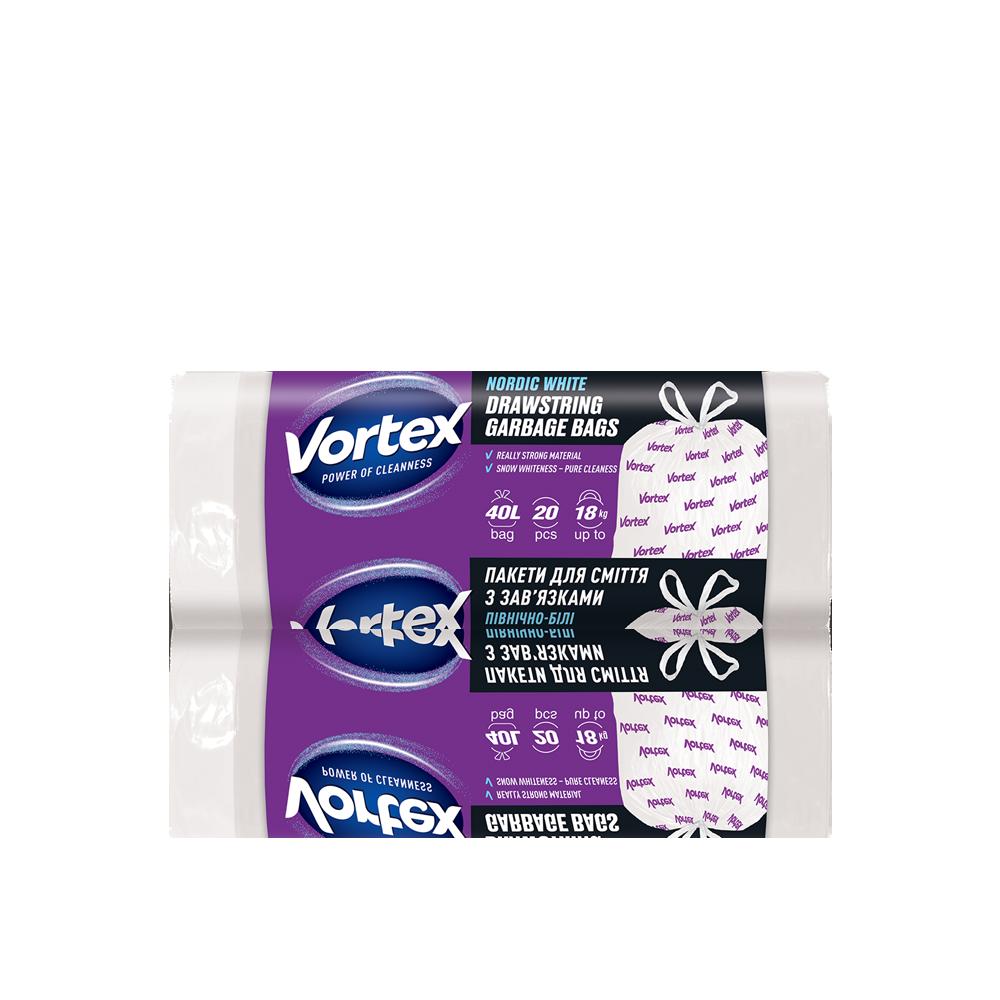 Vortex  Пакет для сміття п/е з затяжкою 40л/20 шт.- Фото 2 - Biosphere