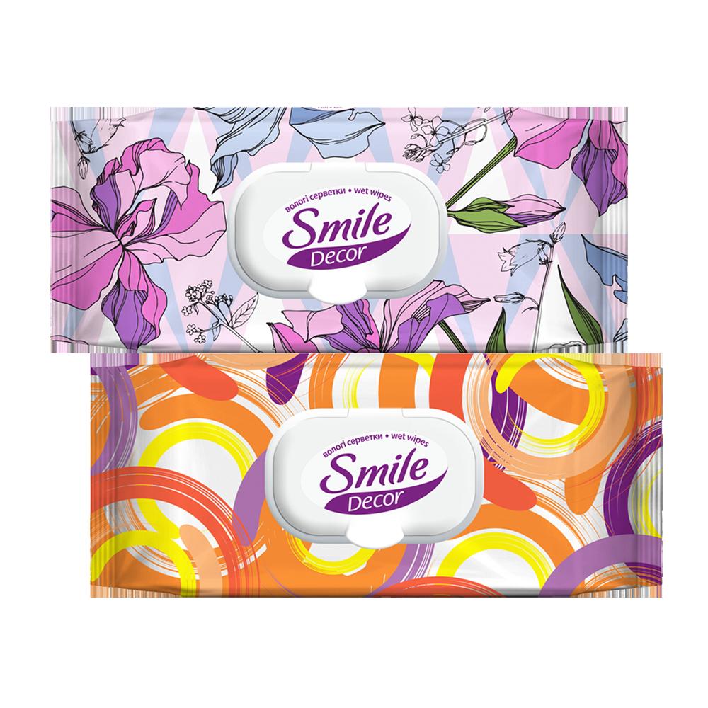 Smile Décor Circles and Flowers wet wipes 60pcs.- Фото 5 - Biosphere