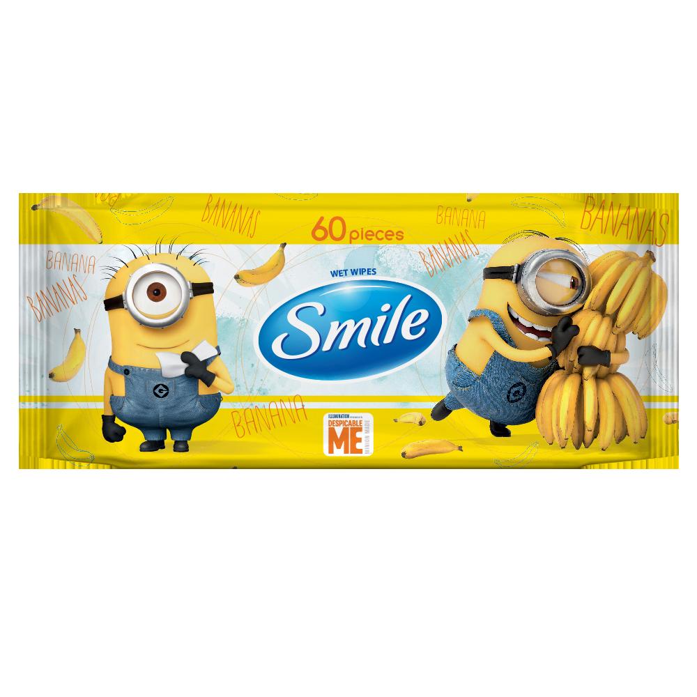 Smile Minions 'MIX' wet wipes 60pcs.- Фото 1 - Biosphere