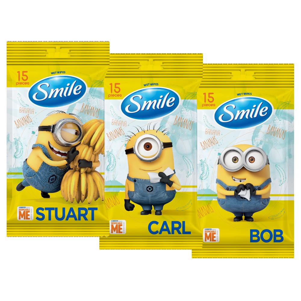 Smile Minions 'MIX' wet wipes 15pcs.- Фото 2 - Biosphere